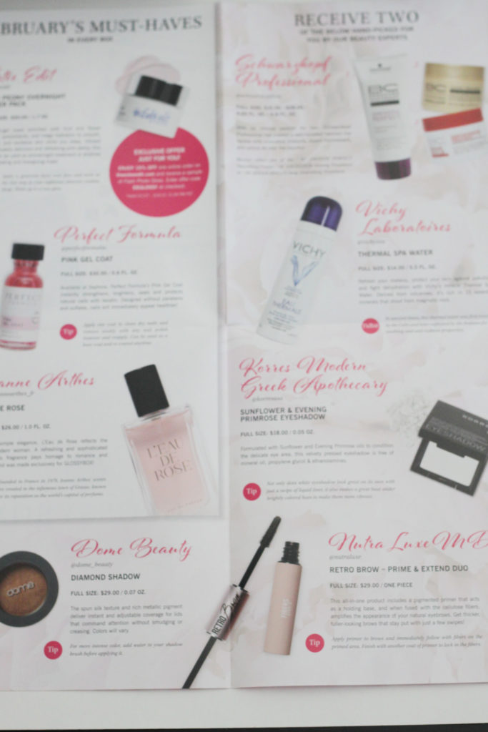 Glossybox February 2017 - What's inside the box!