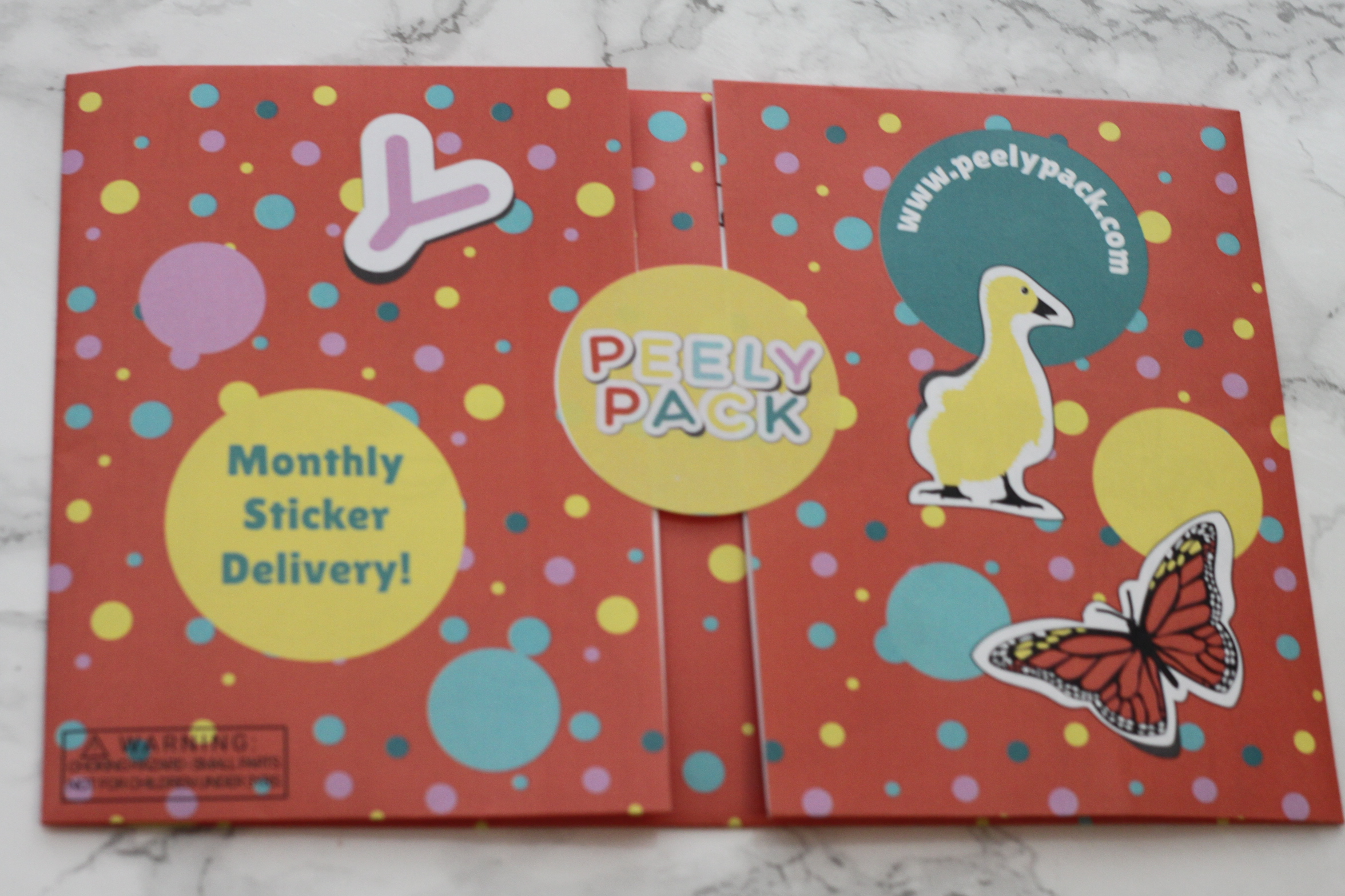 Peely Pack March 2017 Sticker Subscription Review