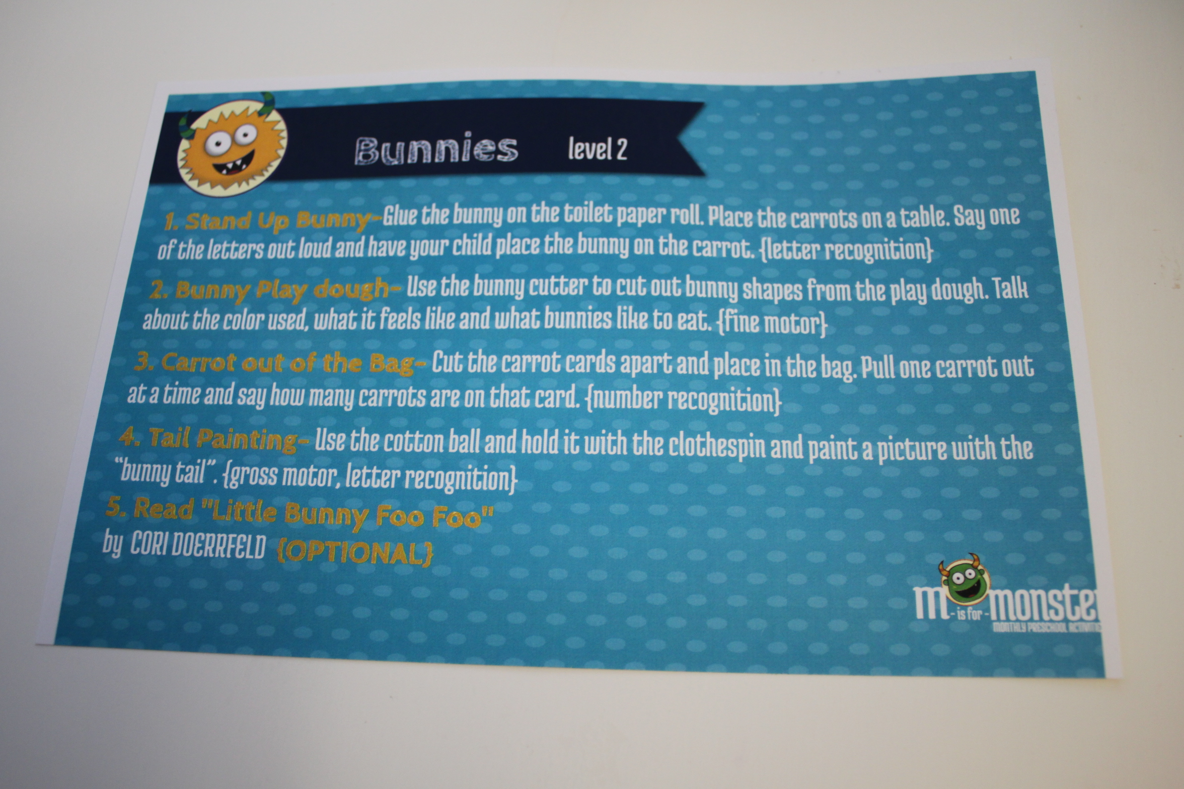 M is for Monster Kids Subscription April 2017 Review