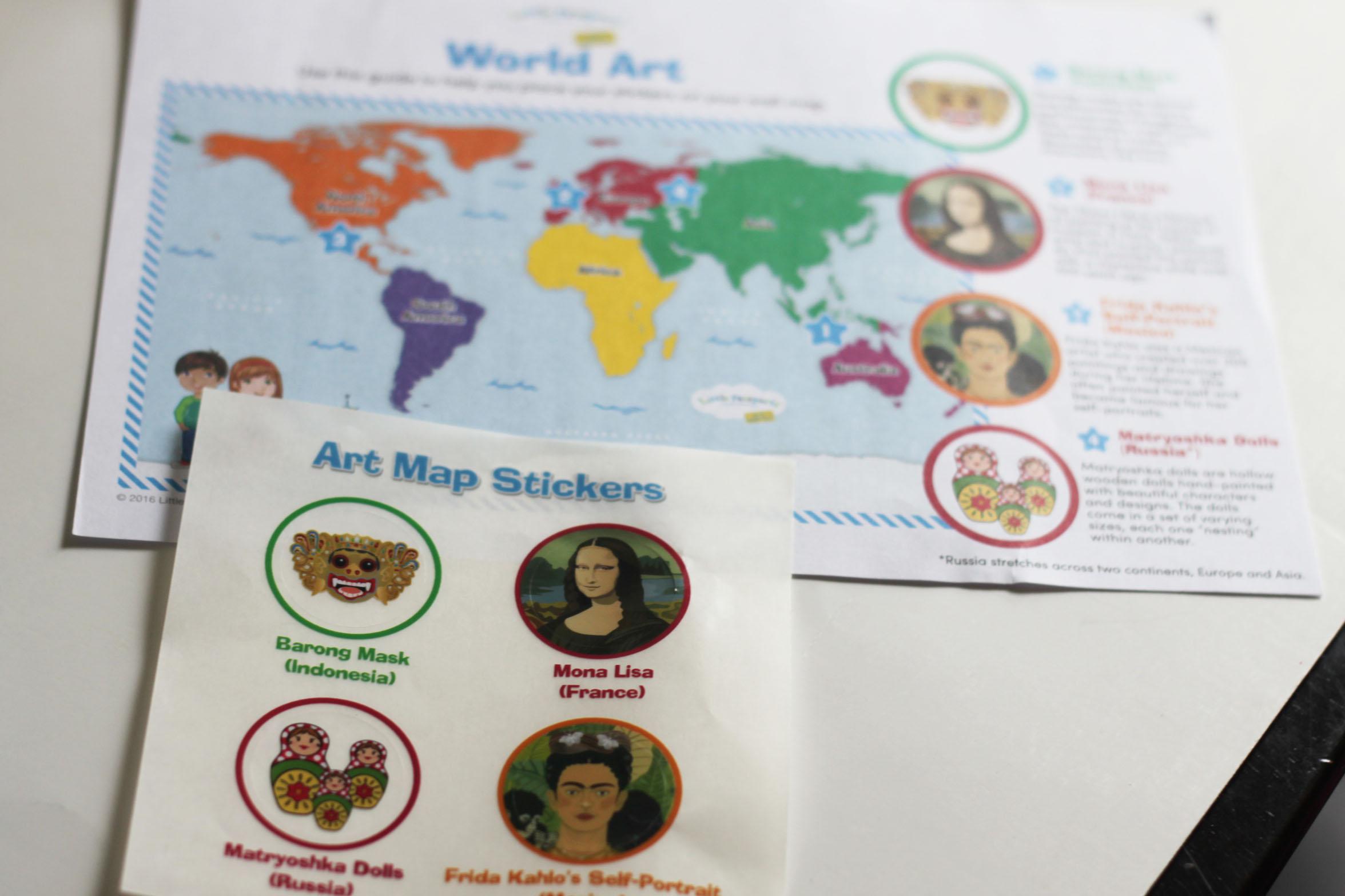 Little Passports Early Explorer Art Review April 2017